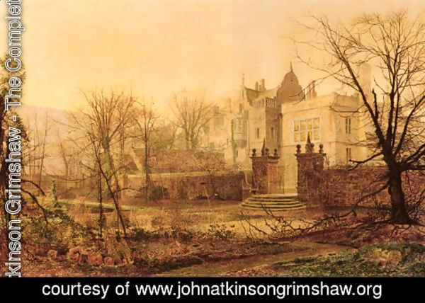 John Atkinson Grimshaw - Knostrop Hall, Early Morning
