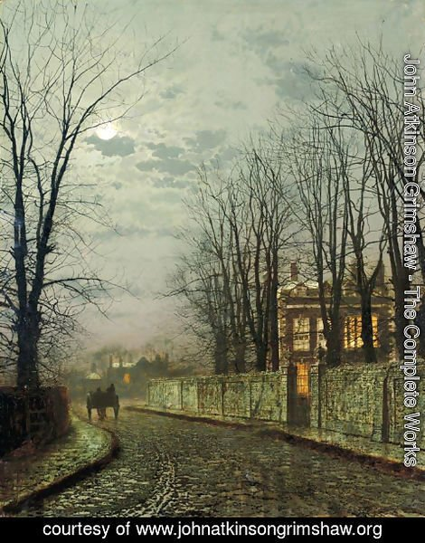 John Atkinson Grimshaw - A Wintry Moon