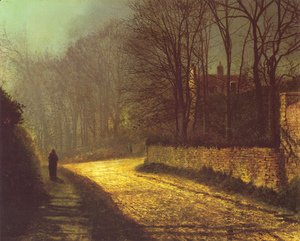 John Atkinson Grimshaw - The Lovers