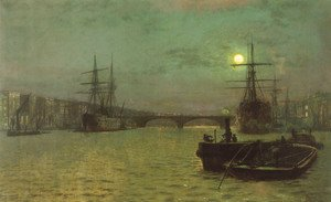 John Atkinson Grimshaw - London Bridge - Half Tide