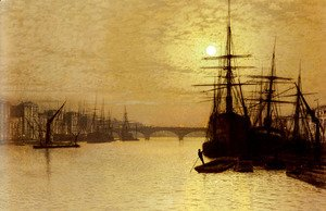 John Atkinson Grimshaw - The Thames Below London Bridge