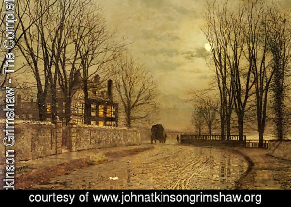 John Atkinson Grimshaw The Complete Works The Turn Of The Road