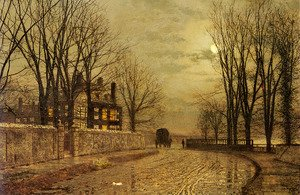 John Atkinson Grimshaw - The Turn of the Road