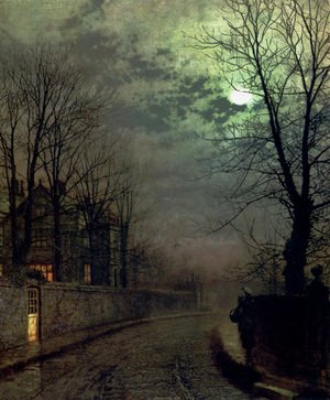 John Atkinson Grimshaw - A Lane In Headingley, Leeds