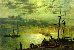 John Atkinson Grimshaw - Whitby from Scotch Head