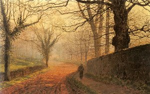 John Atkinson Grimshaw - November Afternoon, Stapleton Park