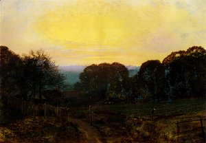 John Atkinson Grimshaw - Twilight, The Vegetable Garden