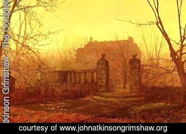 John Atkinson Grimshaw - Autumn Morning