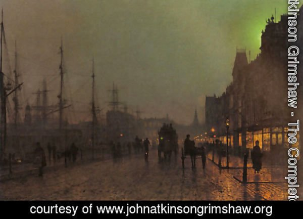 John Atkinson Grimshaw - Gourock, Near The Clyde Shipping Docks
