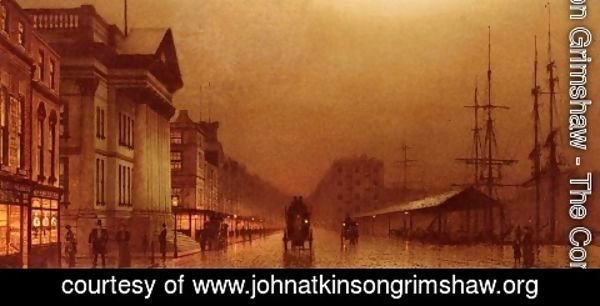 John Atkinson Grimshaw - Liverpool Customs House