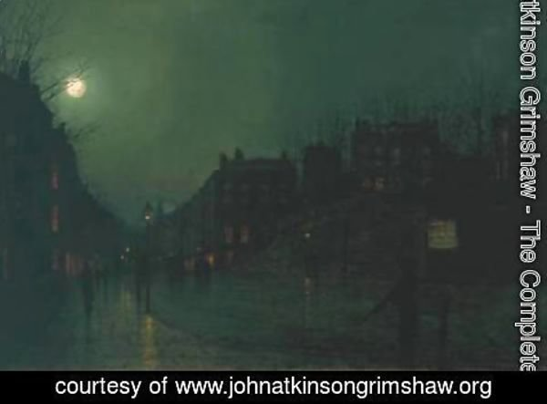 John Atkinson Grimshaw - View of Heath Street by Night