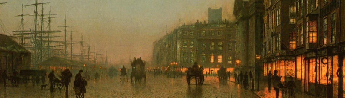 John Atkinson Grimshaw - Liverpool from Wapping