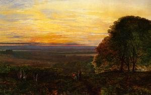 John Atkinson Grimshaw - Sunset from Chilworth Common, Hampshire