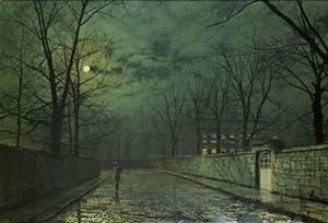 John Atkinson Grimshaw - Moonlight After Rain