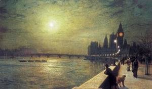 John Atkinson Grimshaw - Reflections on the Thames, Westminster
