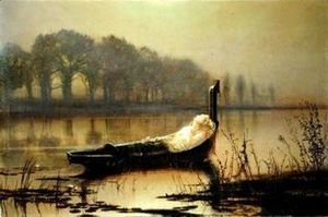 John Atkinson Grimshaw - The Lady of Shalott II
