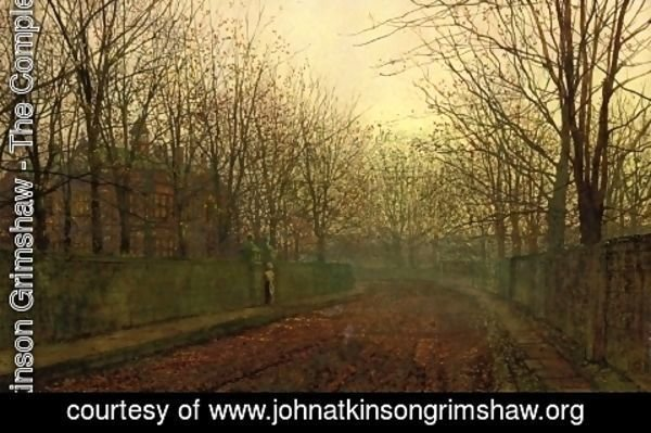 John Atkinson Grimshaw - An Autumn Lane