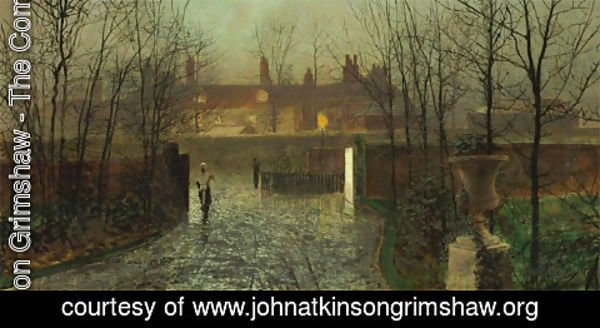 John Atkinson Grimshaw - Arriving at the Hall