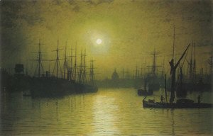 John Atkinson Grimshaw - Nightfall down the Thames