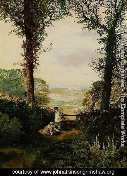 John Atkinson Grimshaw - A Burnsall Valley Wharfedale