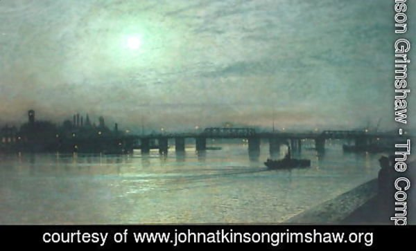 John Atkinson Grimshaw - Battersea Bridge 1885