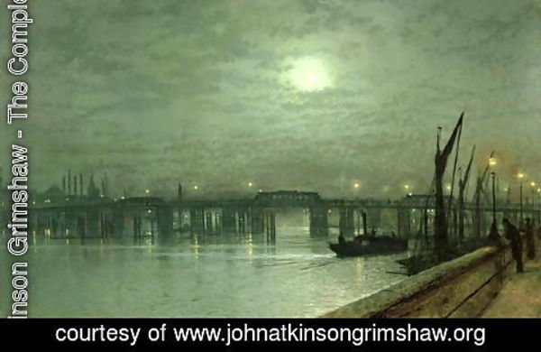 John Atkinson Grimshaw - Battersea Bridge by Moonlight