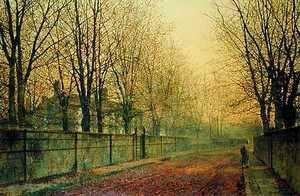 John Atkinson Grimshaw - In the Golden Glow of Autumn 1884