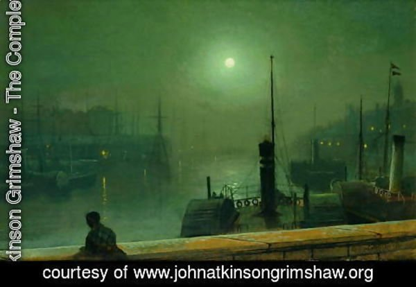 John Atkinson Grimshaw - On the Clyde Glasgow 1879