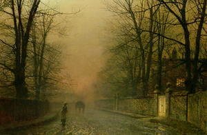John Atkinson Grimshaw - Where the pale moonbeams linger