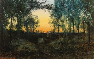 John Atkinson Grimshaw - Bridge at sunset