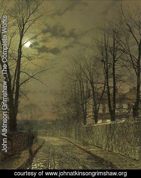John Atkinson Grimshaw - December Moonlight