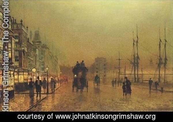 John Atkinson Grimshaw - Glasgow, twilight