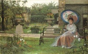 John Atkinson Grimshaw - In the Pleasaunce