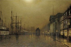 John Atkinson Grimshaw - Liverpool by gaslight