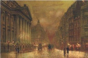 John Atkinson Grimshaw - The Mansion House, London
