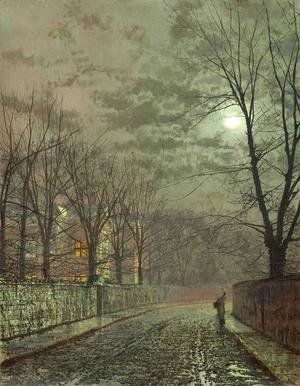 John Atkinson Grimshaw - Under the Moonbeams, Knostrop Hall