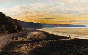 John Atkinson Grimshaw - Whitby Sands, sunset