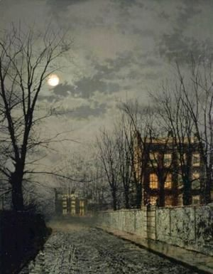 John Atkinson Grimshaw - Winter Moonlight
