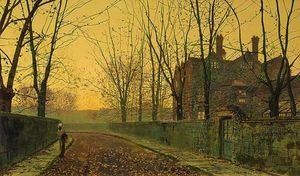 John Atkinson Grimshaw - An Autumnal Evening Glow