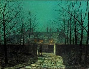 John Atkinson Grimshaw - Lovers At The Gate