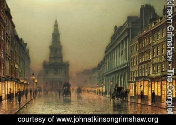 John Atkinson Grimshaw - Evening On the Strand Looking Towards St Mary'S, London