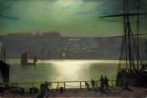 John Atkinson Grimshaw - Whitby By Moonlight