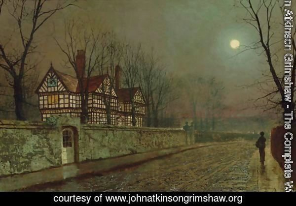 A Cheshire Road By Moonlight