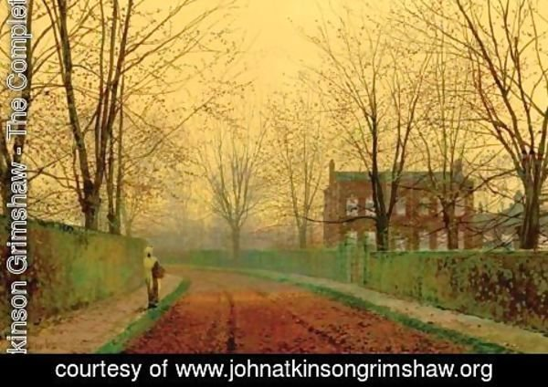 John Atkinson Grimshaw - Late October