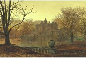 John Atkinson Grimshaw - A Country Estate In Autumn