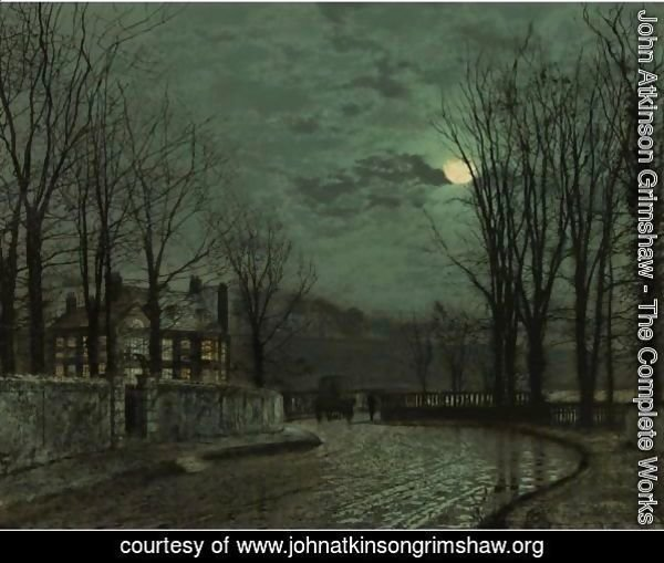 A Wooded Lane By Moonlight