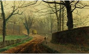 John Atkinson Grimshaw - Late Autumn, Stapleford Park, North Pontefract