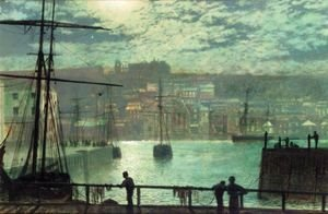 John Atkinson Grimshaw - Whitby From Station Quay