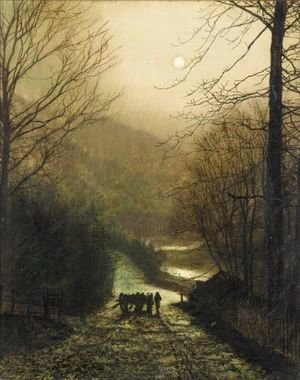 John Atkinson Grimshaw - Forge Valley, Near Scarborough 3