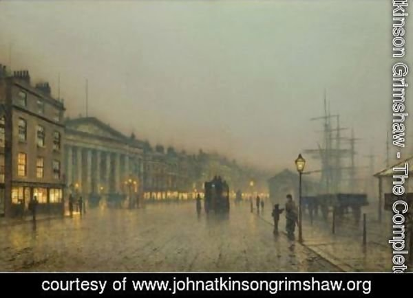 John Atkinson Grimshaw - Liverpool Custom House And Wapping